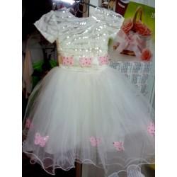 """Платье  """"бабочки розовые пайетка"""""""